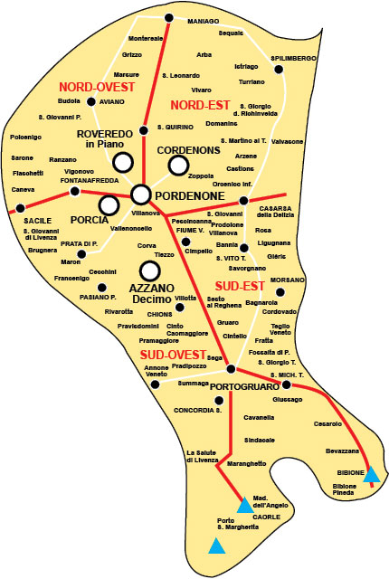 Mappa distribuzione Città Nostra Pordenone